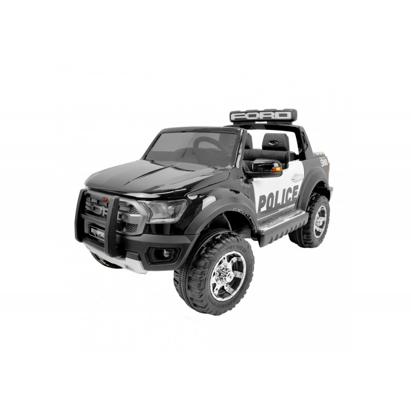 12V Ford Raptor Police Electric Ride On - Black