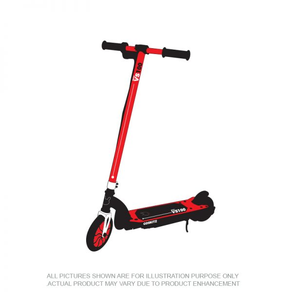 Go Skitz VS100 Electric Scooter Red