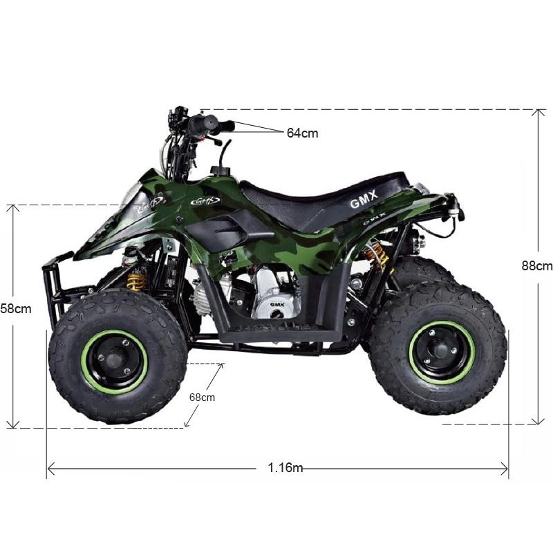 GMX Ripper 70cc Sports Quad Bike Camo Green