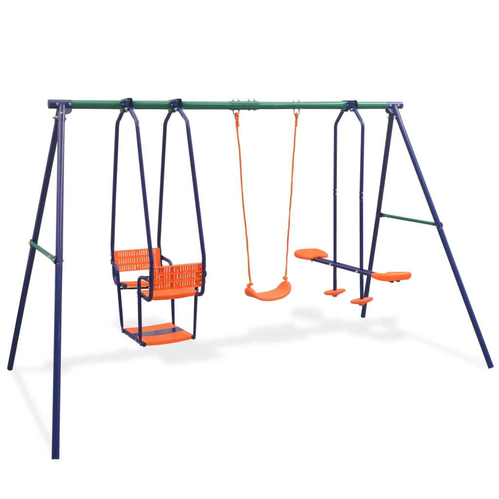 Swing Set with 5 Seats Orange