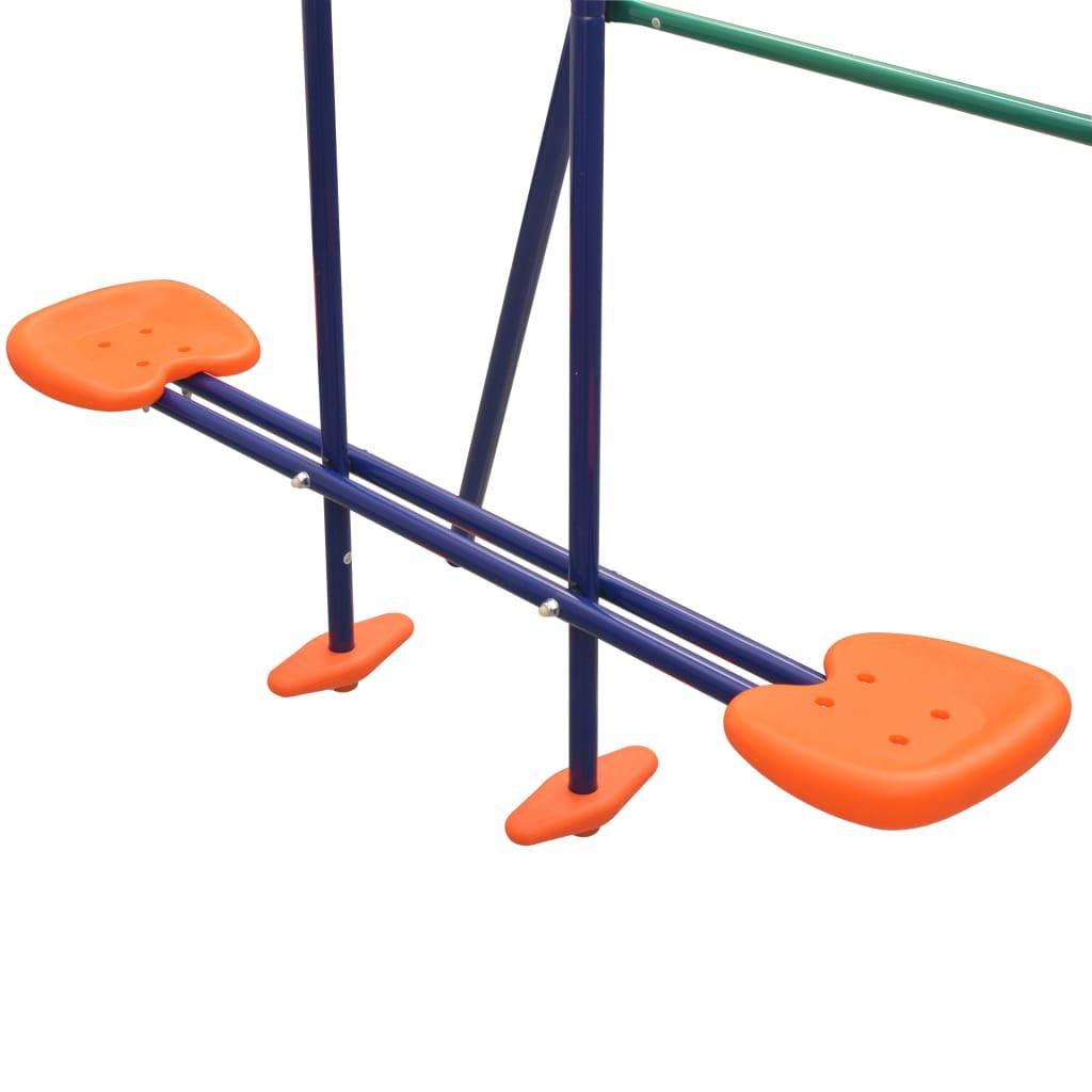 Swing Set with 5 Seats Orange
