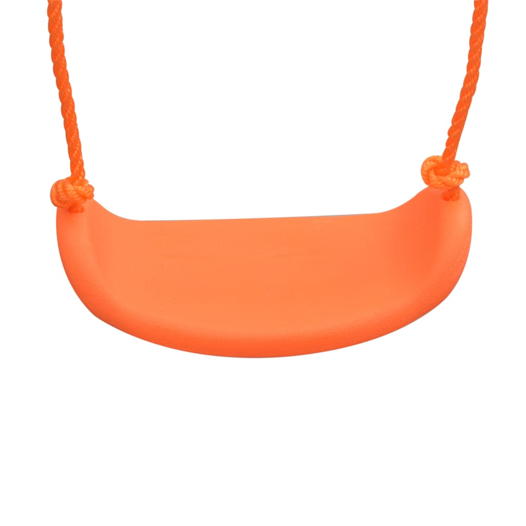 Swing Set with Slide and 3 Seats Orange