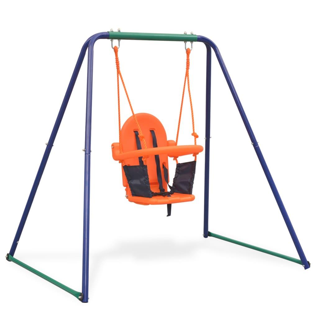 2-in-1 Single Swing and Toddler Swing Orange