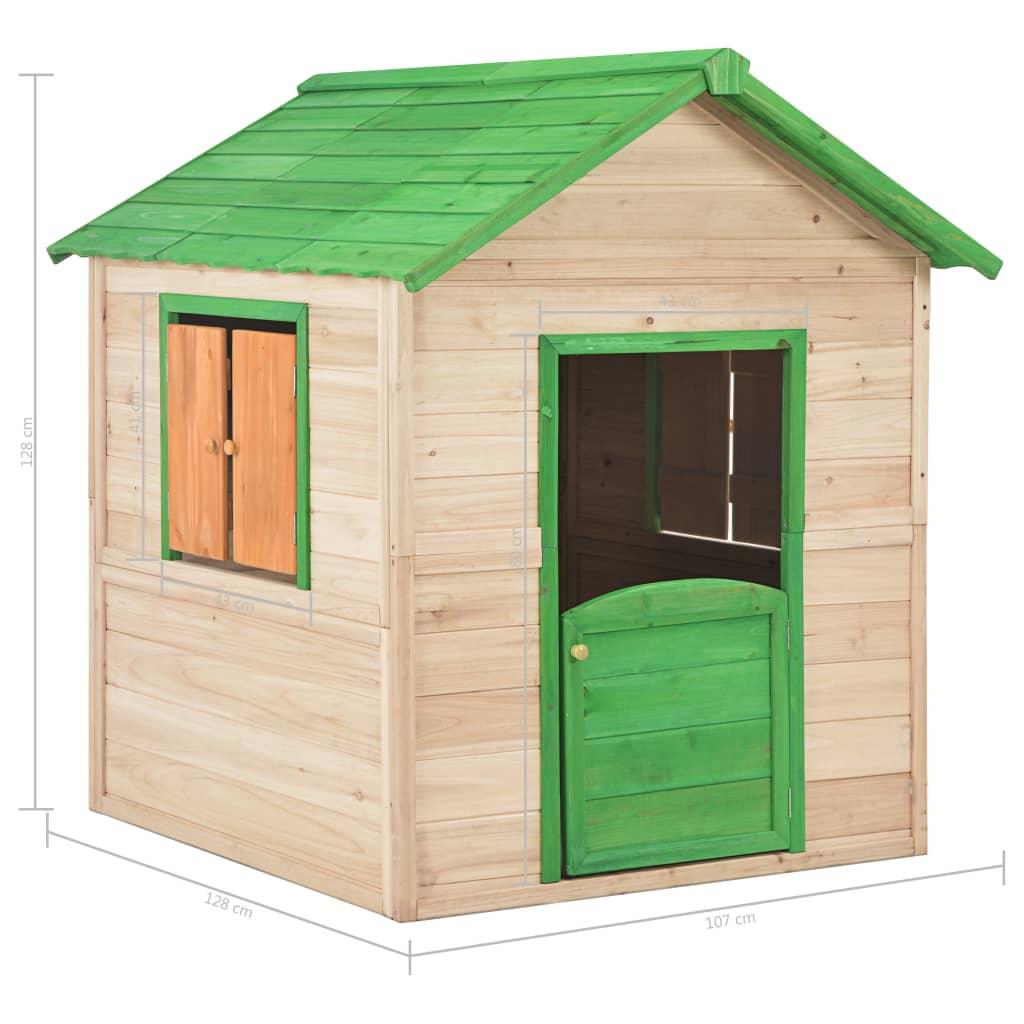 Kids Play House Wood Green