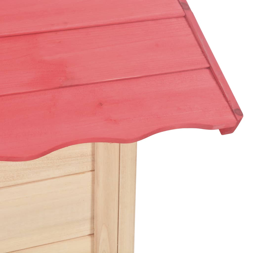 Kids Play House Wood Red