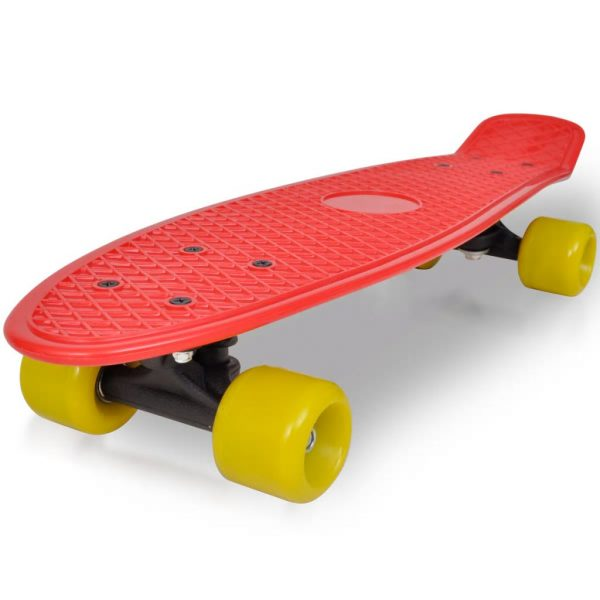 """Retro Skateboard with Red Top Yellow Wheels 6.1"""""""