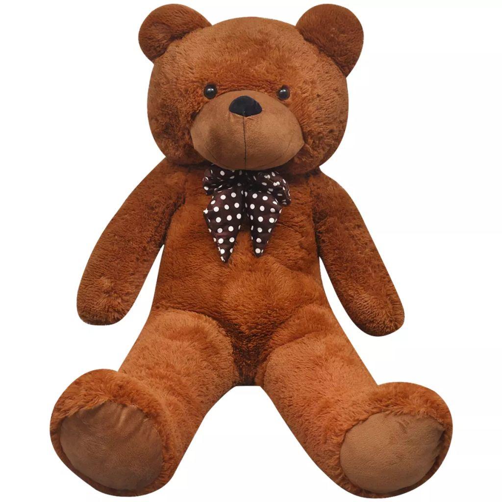 XXL Soft Plush Teddy Bear Toy Brown 100 cm