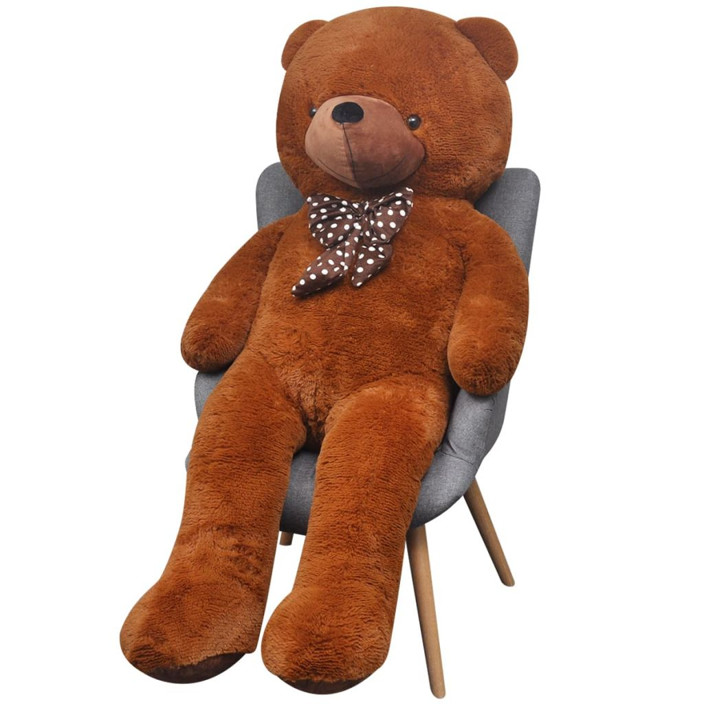 XXL Soft Plush Teddy Bear Toy Brown 175 cm