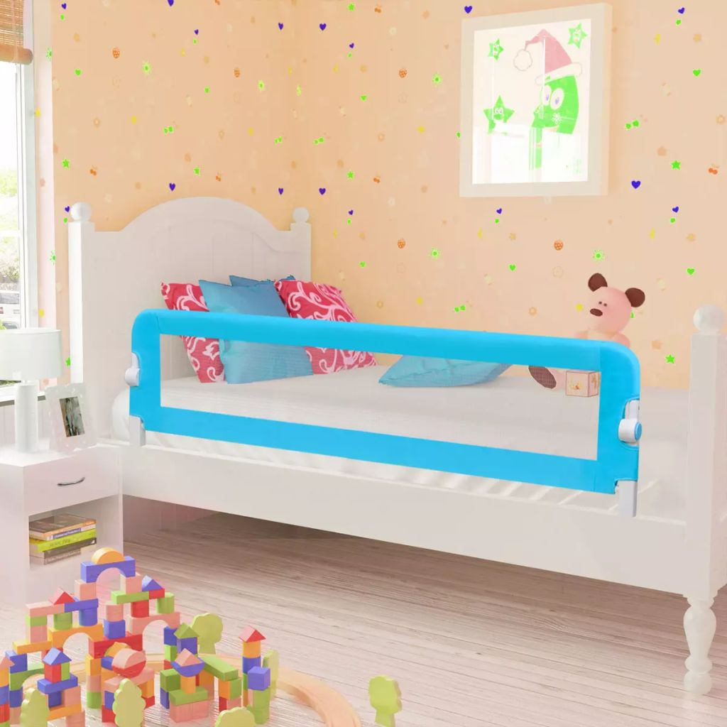 Toddler Safety Bed Rail 150 x 42 cm Blue
