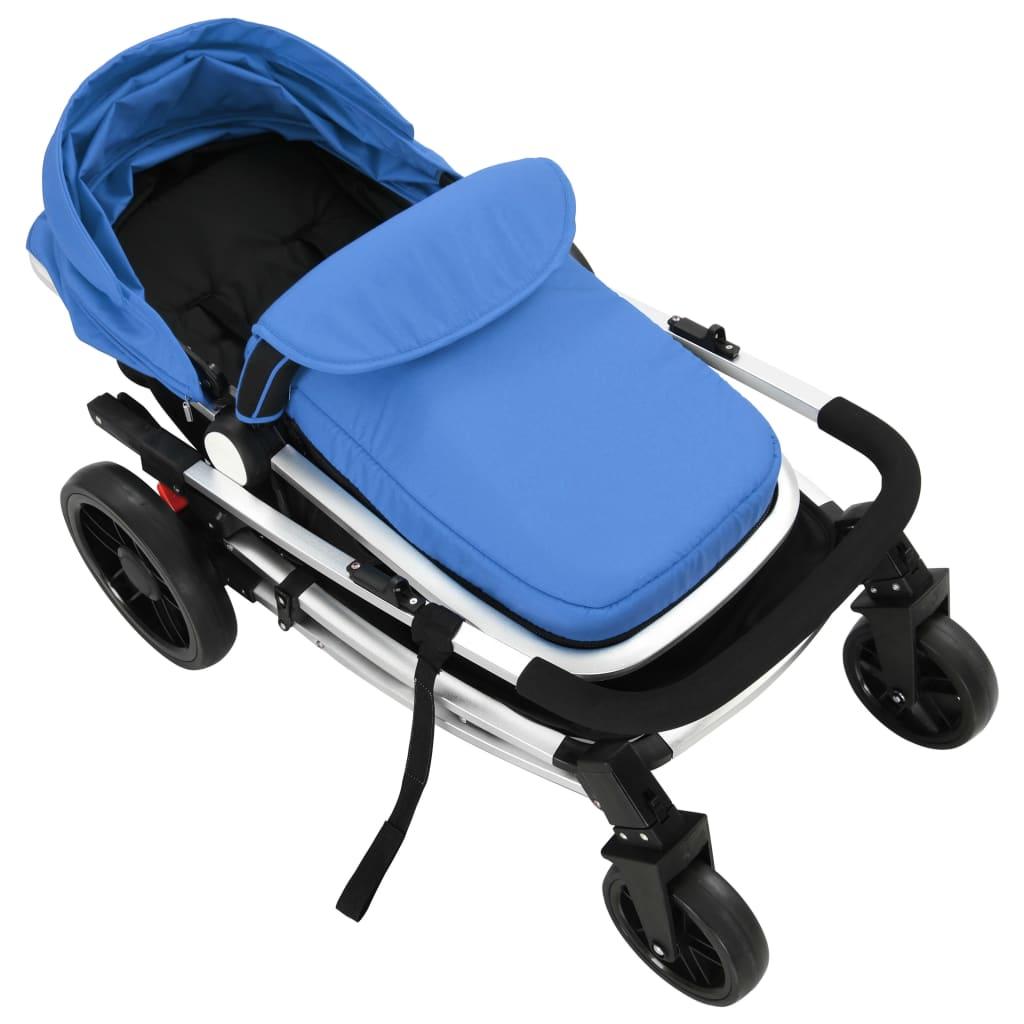 2-in-1 Baby Stroller/Pram Aluminium Blue and Black