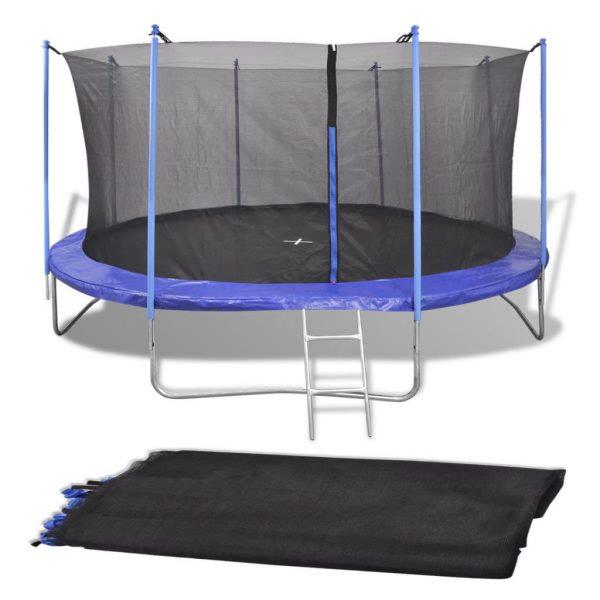 Safety Net PE Black for 3.96 m Round Trampoline