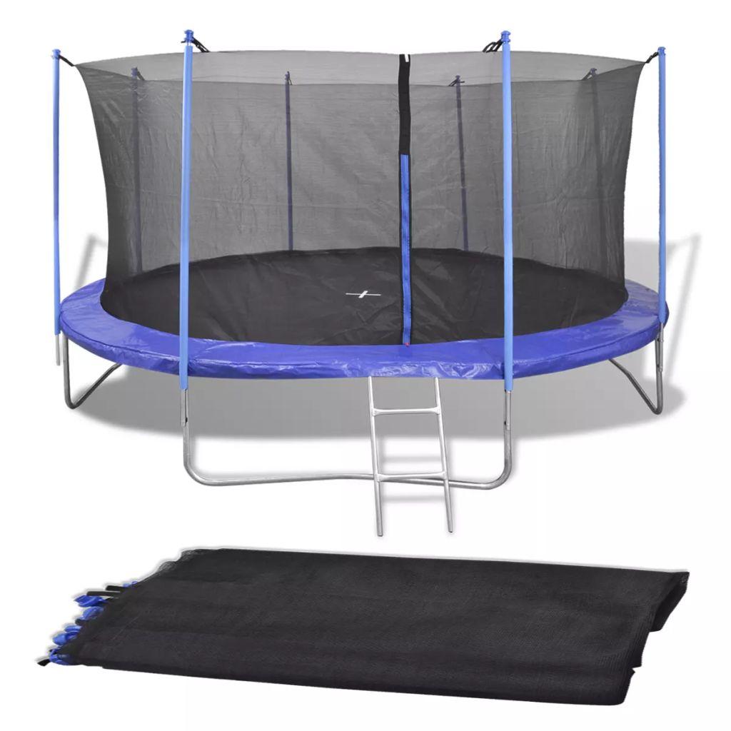 Safety Net PE Black for 4.57 m Round Trampoline
