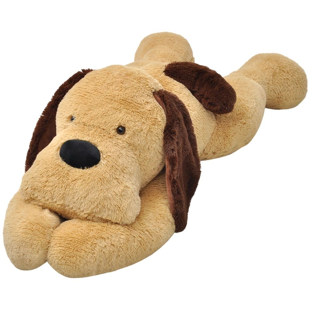 Dog Cuddly Toy Plush Brown 80 cm