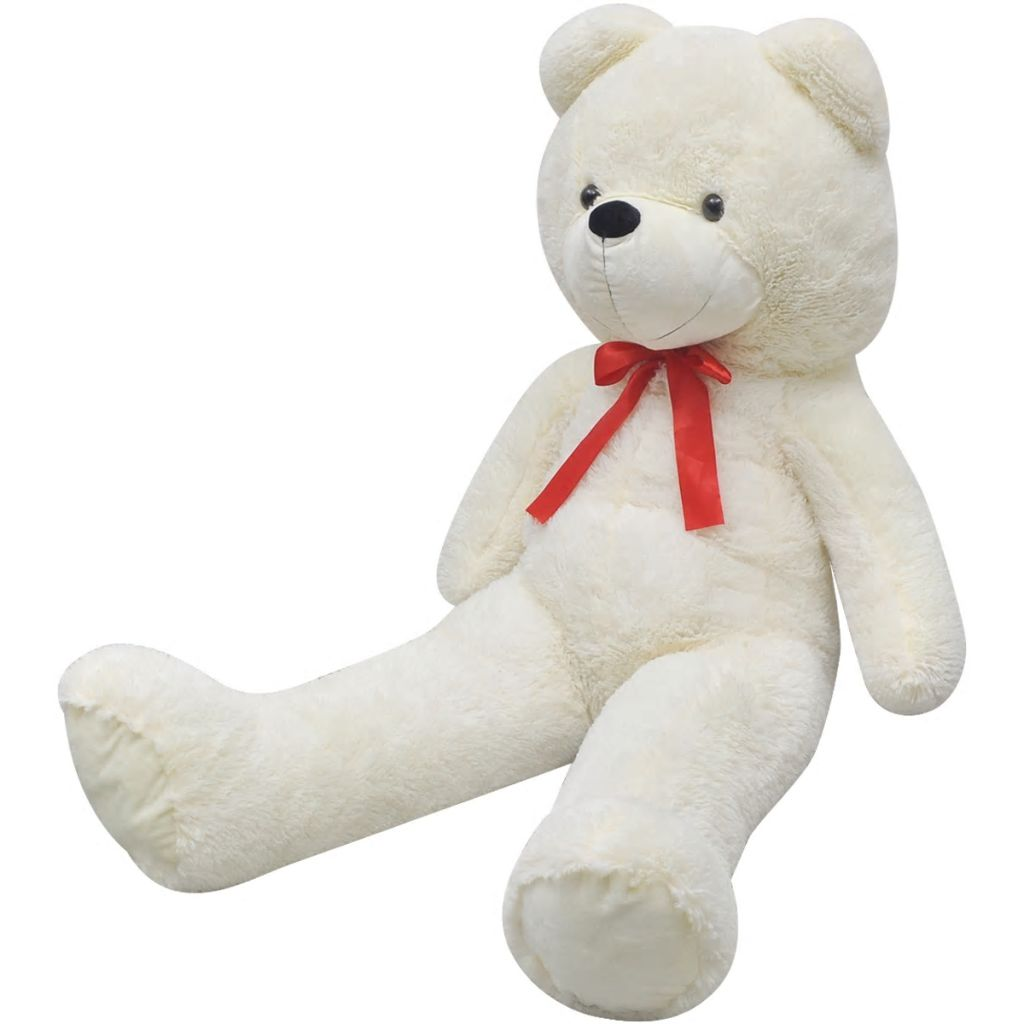 Teddy Bear Cuddly Toy Plush White 260 cm