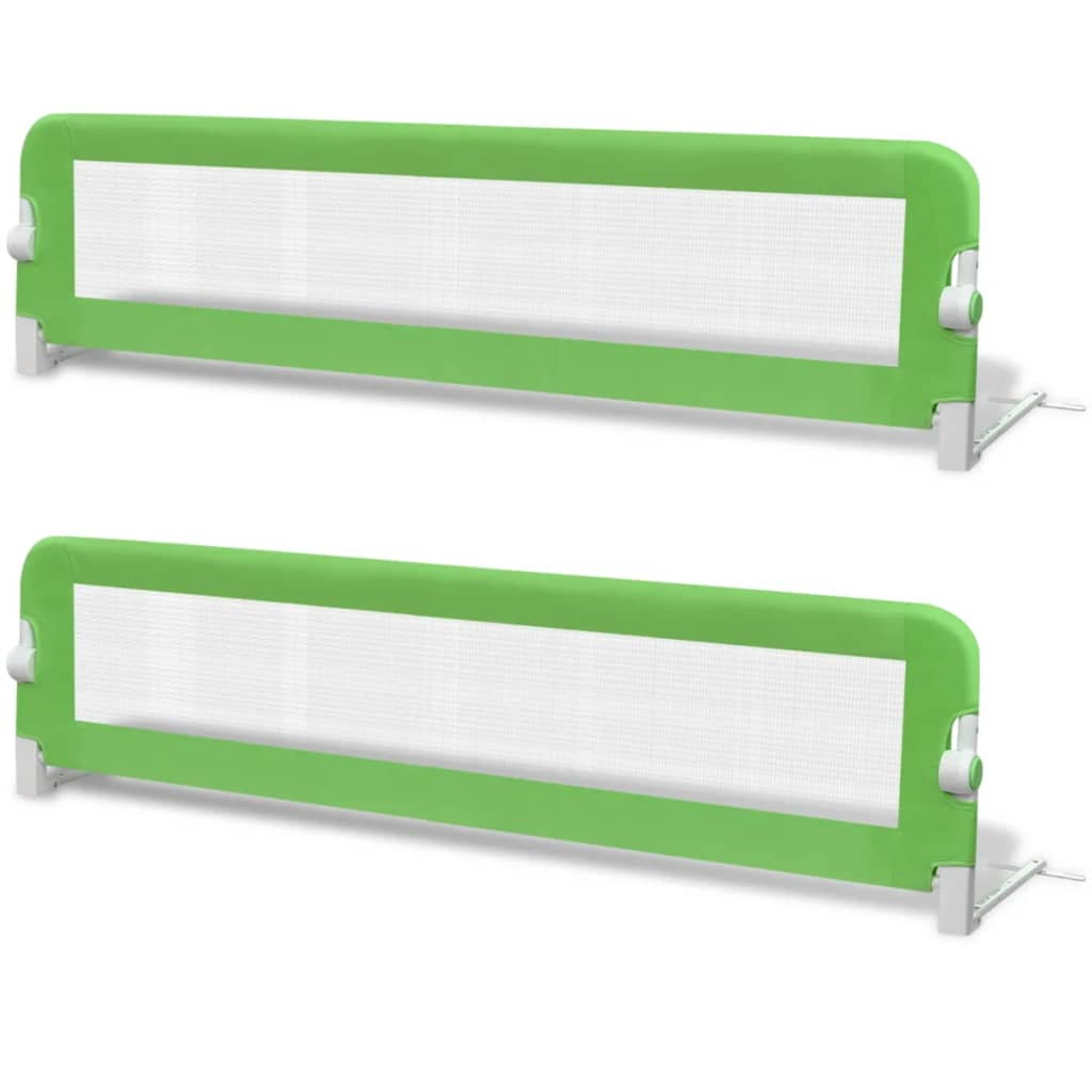 Toddler Safety Bed Rail 2 pcs Green 150x42 cm