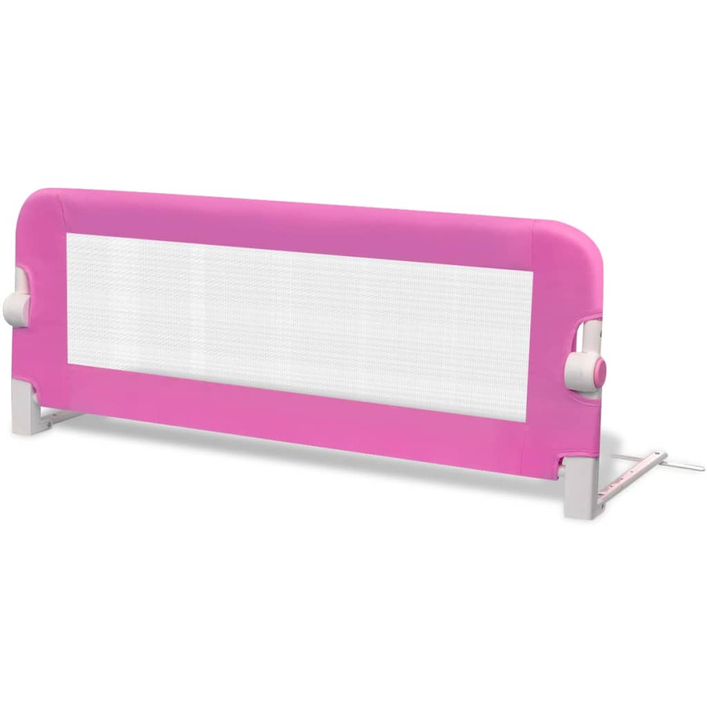Toddler Safety Bed Rail 2 pcs Pink 102x42 cm