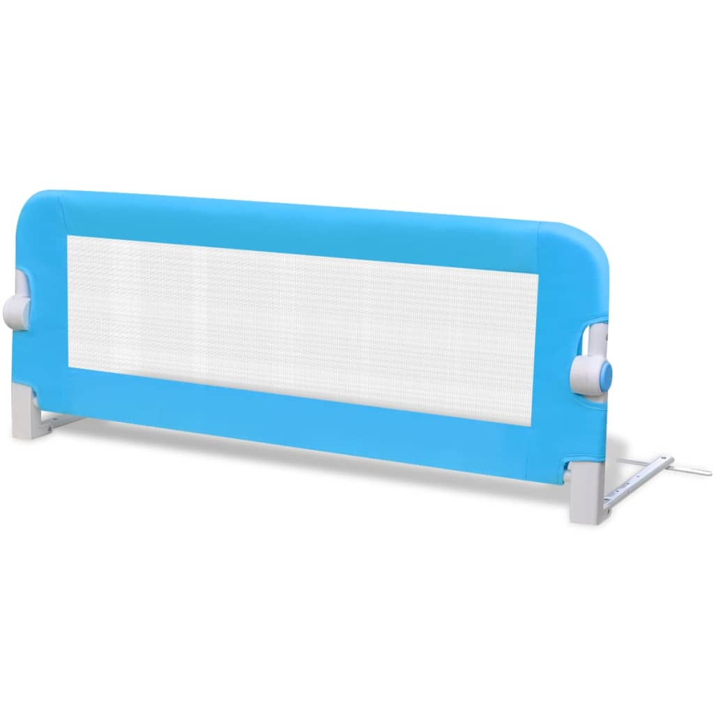 Toddler Safety Bed Rail 2 pcs Blue 102x42 cm
