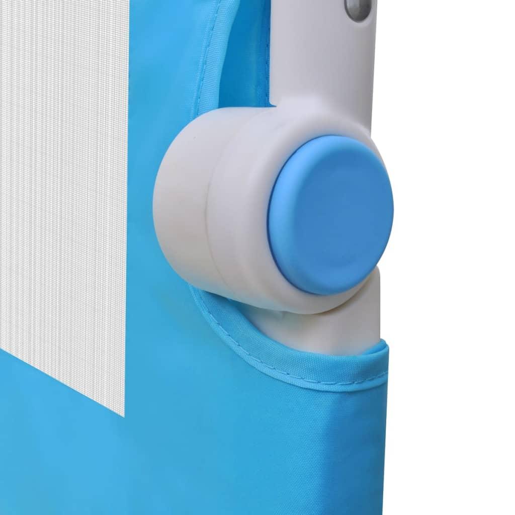 Toddler Safety Bed Rail 2 pcs Blue 150x42 cm