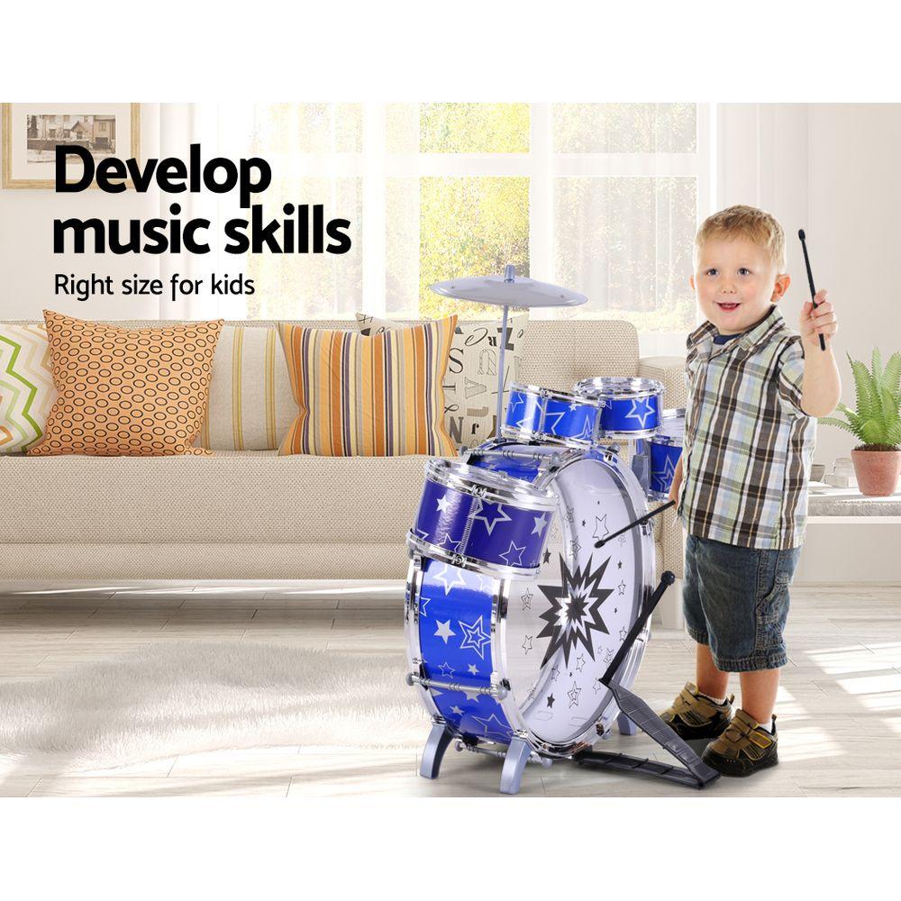 Keezi 11 Piece Kids Drum Set