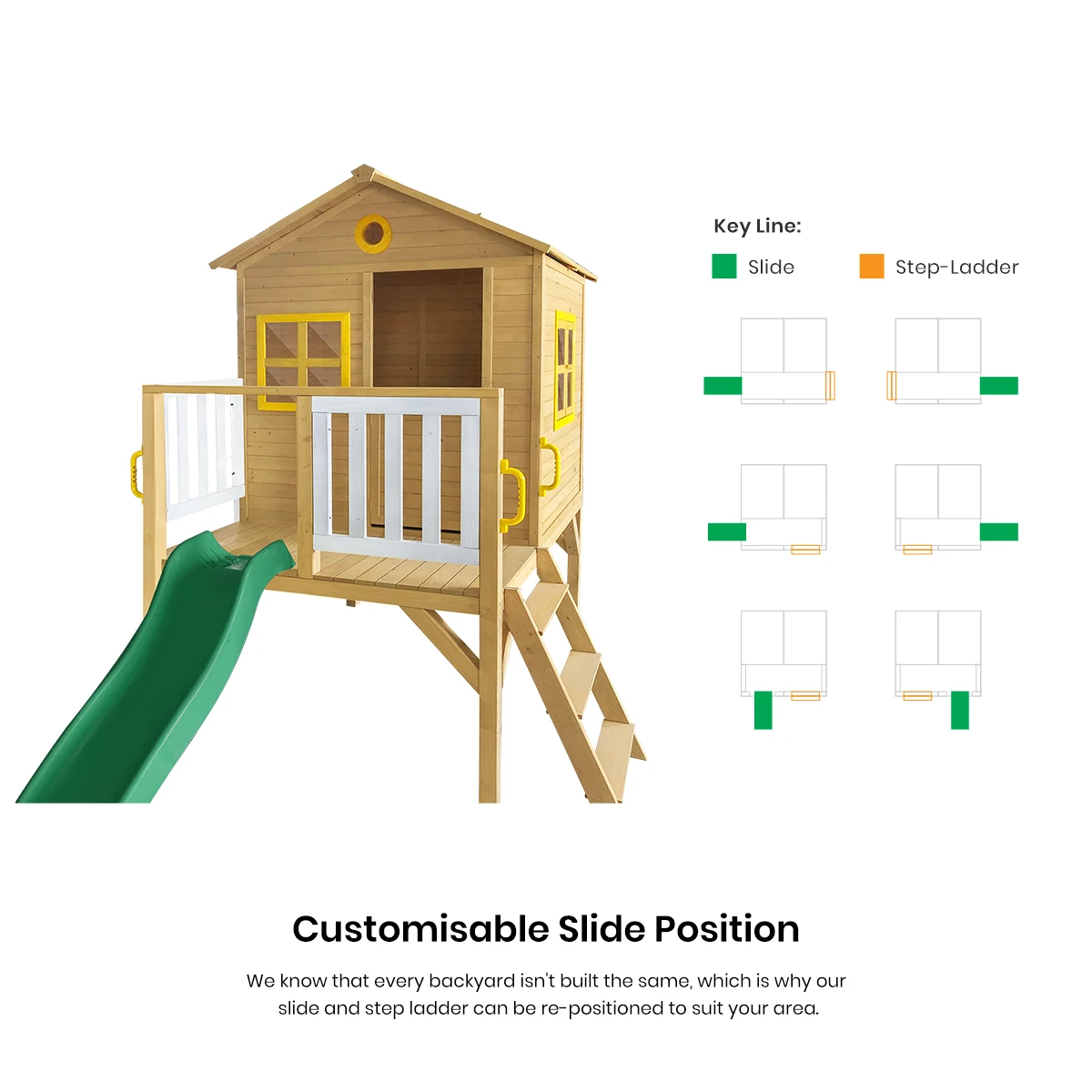 Archie Cubby House with Green Slide