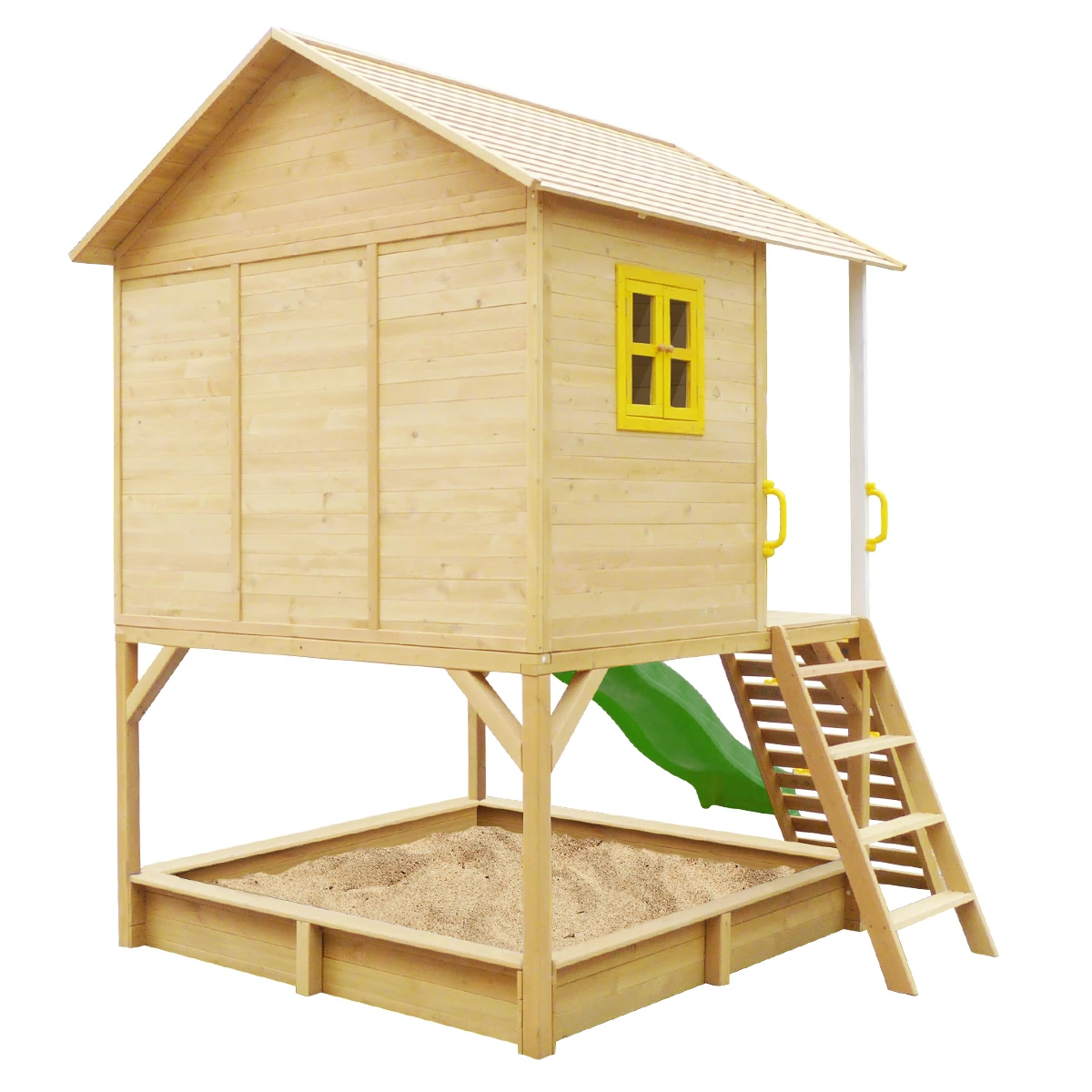 Warrigal Cubby House set- Green Slide