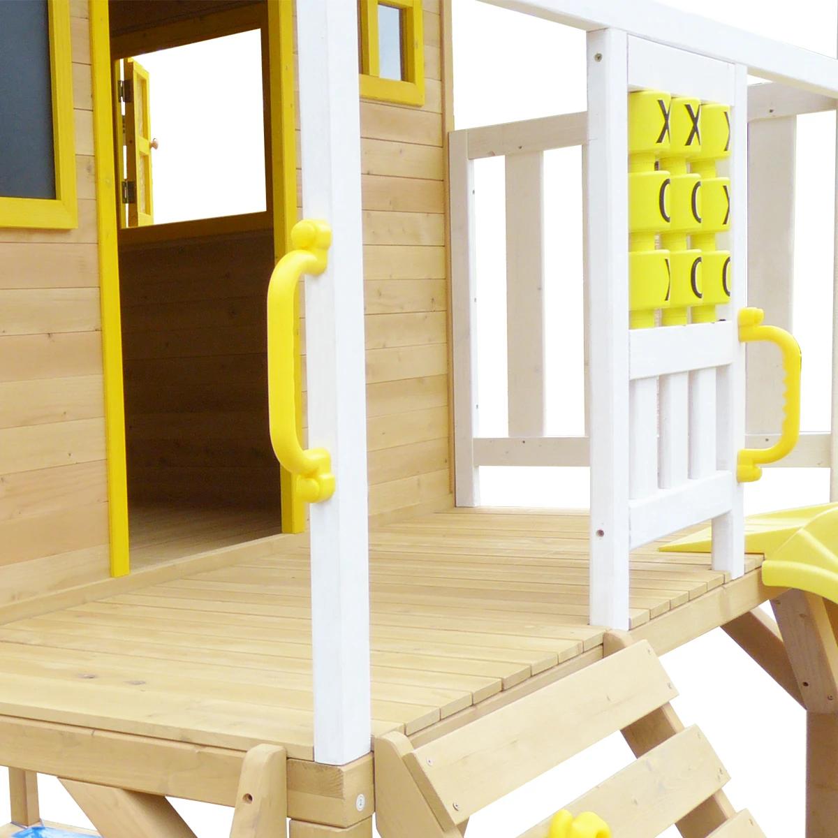 Warrigal Cubby House set- Green Slide