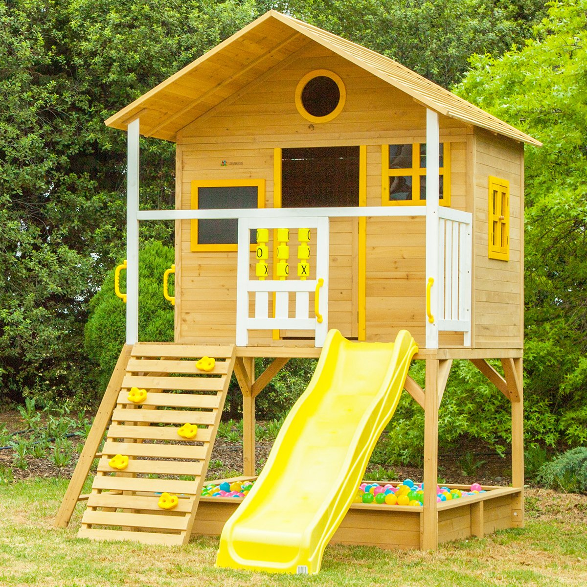 Warrigal Cubby House set- Yellow Slide